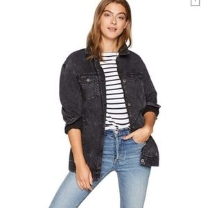 New Levi's Oversized Cotton Canvas Trucker Jacket